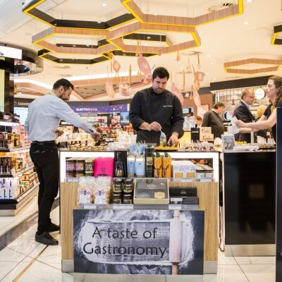 Chef Gikas Xenakis at Hellenic Duty Free Stores